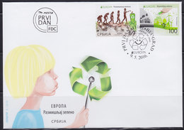 Serbia 2016 Europa CEPT - Think Green (Pensa Verde), FDC - Serbia