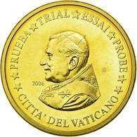 Vatican, Médaille, 20 C, Essai-Trial Benoit XVI, 2006, FDC, Copper-Nickel Gilt - Jetons & Médailles