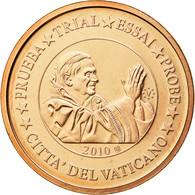 Vatican, Médaille, 2 C, Essai-Trial Benoit XVI, 2010, FDC, Cuivre - Jetons & Médailles