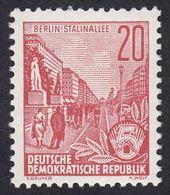 GERMANIA DDR - 1955 - Yvert 191 Nuovo MNH. Piano Quinquennale. 20 P., Rosso Vermiglio - Neufs