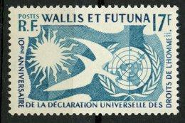 Wallis And Futuna Islands 1958 17f Human Rights Issue #153   MNH - Wallis And Futuna