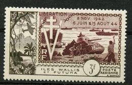 Wallis And Futuna Islands 1946 3f Airmail Issue #C1   MH - Airmail