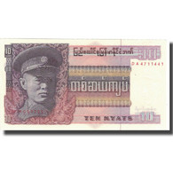 Billet, Birmanie, 10 Kyats, Undated (1973), KM:58, NEUF - Myanmar