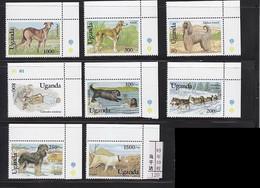 Uganda 1993 Dog Chien MNH 8V - Uganda (1962-...)