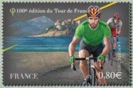 France N° 4759 ** Sport, Cyclisme - Centième Tour De France. Le Maillot Vert Devant Calvi - France