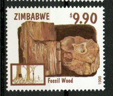 Zimbabwe 1998 $9.90 Fossil Wood Issue #805  MNH - Zimbabwe (1980-...)