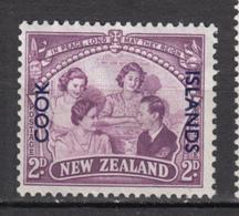 ##22, Cook Islands, George VI, élizabeth II, Surimpression, Overprint - Cook