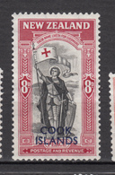 ##22, Cook Islands, Paix, Peace, Chevalier, Armure, Armor, Drapeau, Flag, Surimpression, Overprint - Cook