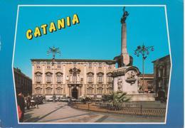 CATANIA - PALAZZO DEL COMUNE E OBELISCO DELL'ELEFANTE - ANIMATA - AUTO D'EPOCA CARS VOITURES - Catania