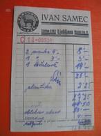 RACUN.IVAN SAMEC,LJUBLJANA.Galanterijsko Blago - Cheques & Traveler's Cheques