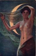 COURTEN: La Nuit [ Nu Femme CPA Hongroise ] EN093 - Tableaux