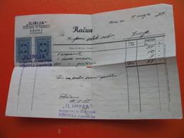 RACUN.ILIRIJA,KNJIGARNA IN PAPIRNICA,KRANJ - Chèques & Chèques De Voyage