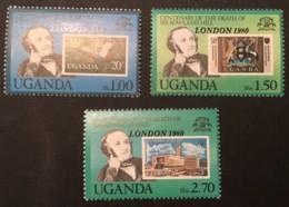 UGANDA - MH* - 1980 - # 293/296 SHORT SET - Uganda (1962-...)