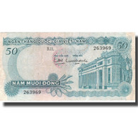 Billet, South Viet Nam, 50 D<ox>ng, KM:25a, TTB - Viêt-Nam