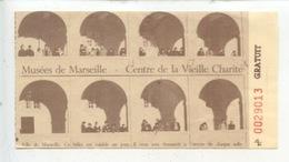 Ticket : Musées De Marseille - Centre De La Vieille Charité (cachet 1993) - Tickets - Vouchers
