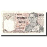 Billet, Thaïlande, 10 Baht, 1980, 1980, KM:87, SPL - Thaïlande