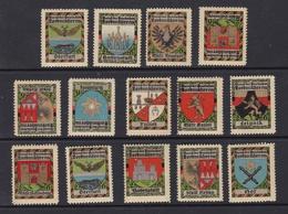 Wappen Von Ortschaften Von Nordmähren, 14 Versch. ** - Boemia E Moravia