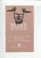 Ticket : Musée Des Merveilles - Tende 2001 - Tickets D'entrée