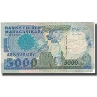 Billet, Madagascar, 5000 Francs = 1000 Ariary, Undated (1988-94), KM:73a, TB - Madagascar