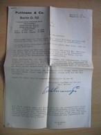 """4x Documents:Puhlmann&Co.Berlin.PUHLMANN-TEE""""S - Cachets Généralité"""