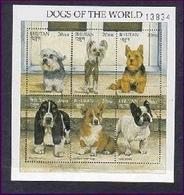Bhutan 1997 Dog Chien MNH 1SS + 1 Sheet + 4V - Bhoutan