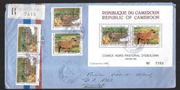 Cameroun   Lettre Recommandée  De 1990  à Douala - Cameroun (1960-...)