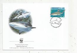 Premier Jour D'émission ,FDC , WWF , COCOS KEELING ISLANDS , AUSTRALIA , Blacktip Reef Shark, 21 June 2005 - Cocos (Keeling) Islands