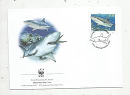 Premier Jour D'émission ,FDC , WWF , COCOS KEELING ISLANDS , AUSTRALIA , Grey Reef Shark, 21 June 2005 - Cocos (Keeling) Islands