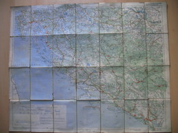 Freytags&Berndt.Motoring And Cycling TRIEST-ZAGREB-SARAJEVO-CETINJE.JUGOSLAVIJA,ISTRA(ISTRIEN) - Cartes Routières