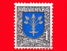 SLOVACCHIA - Usato - 1993 - Stemmi Araldici -  Dubnica Nad Vahom - 1 - Slovacchia
