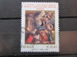 *ITALIA* USATI 2003 - NATALE - SASSONE 2716 - LUSSO/FIOR DI STAMPA - 6. 1946-.. Repubblica
