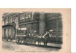 """PARIS - Grands Magasins Du Printemps. - Voiture De Livraison """"Vue Printemps - Série B -N°4."""" Bel Attelage. Voir SCAN. - Transport Urbain En Surface"""