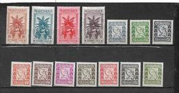 Colonies Martinique Timbre Taxe De 1943/47  N°23 A 36 Complet  Neuf ** Et * Belle Gomme - Martinique (1886-1947)