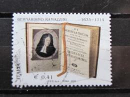 *ITALIA* USATI 2003 - BERNARDINO RAMAZZINI - SASSONE 2715 - LUSSO/FIOR DI STAMPA - 6. 1946-.. Repubblica
