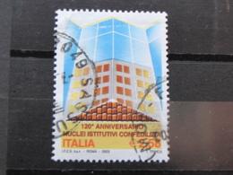 *ITALIA* USATI 2003 - 120° ANNIVERSARIO CONFEDILIZIA - SASSONE 2714 - LUSSO/FIOR DI STAMPA - 6. 1946-.. Repubblica