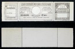 COLIS POSTAUX PARIS N° 98  Neuf Cote 50€ - Parcel Post