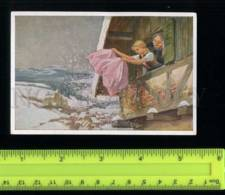 222410 Grimm Tale Frau Holle Mother Hulda By Paul HEY Artist Old Tobacco Card - Tabac (objets Liés)