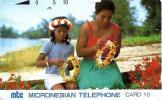 NORTHERN MARIANA ISLANDS 10 U MOTHER & DAUGHTHER WOMAN NMN-MM-05 ISSUED 1991 TAMURA READ DESCRIPTION !! - Noordelijke Marianen