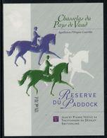 Rare // Etiquette De Vin // Chevaux //  Chasselas, Réserve Du Paddock - Chevaux