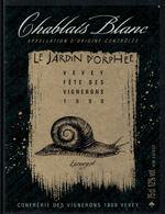 Rare // Etiquette De Vin // Fête Des Vignerons Vevey 1999 //  Chablais Blanc, Escargot - Escargots