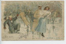 Carte Meteor (transparente Deux Scènes )hiver Et été Patinage   (top Cpa) - Hold To Light