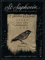 Rare // Etiquette De Vin // Fête Des Vignerons Vevey 1999 //  St.Saphorin, Oiseaux, étourneau - Etiquettes