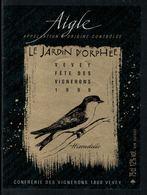 Rare // Etiquette De Vin // Fête Des Vignerons Vevey 1999 //  Aigle, Oiseaux, Hirondelle - Etiquettes