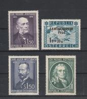 Mi. Nr. 997, 998, 1006, 1007  Postfrisch - 1945-.... 2ème République