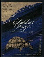 Rare // Etiquette De Vin // Fête Des Vignerons Vevey 1999 //  Chablais Rouge, Tortue - Tortues
