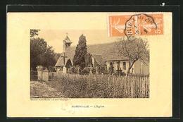 CPA Auberville, Friedhof Avec L'Église - France