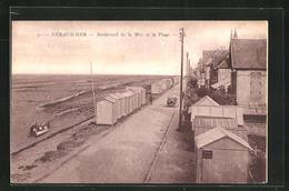 CPA Ver-sur-Mer, Boulevard De La Mer Et La Plage - France