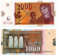 1996 // MACEDOINE // Commemorative Bill // 1 000 Denari // AU - Macédoine
