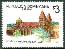 DOMINICAN REPUBLIC 1995 CITY OF SANTIAGO CATHEDRAL** (MNH) - Dominicaine (République)