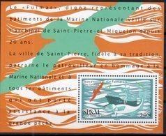 ST. PIERRE ET MIQUELON, SPM, 2018, MNH, SHIPS, LE FULMAR, FISHING, FISH, CODS, BIRDS, S/SHEET - Fishes